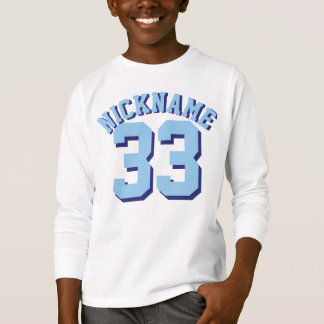White & Blue Kids | Sports Jersey Design T-Shirt
