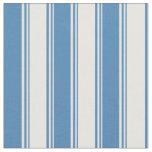 [ Thumbnail: White & Blue Lines/Stripes Pattern Fabric ]