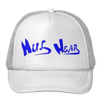 White & Blue Mul Wear logo cap Trucker Hat