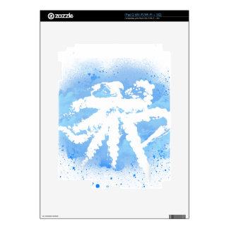 White/Blue Octopus iPad 2 Decals