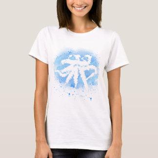 White/Blue Octopus Womens T-Shirt