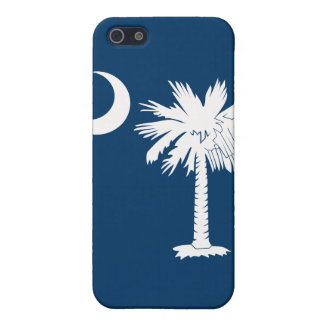 White/Blue Palmetto Moon iPhone 4 Case