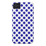 White Blue Polka Dots - iPhone 4/4S Case Case-Mate iPhone 4 Case