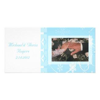 White & Blue Snowflake Wonderland Card