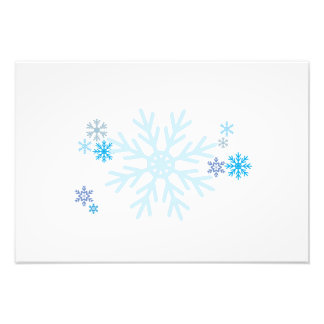 White Blue Snowflakes Christmas Decals Pillows Pin Photograph