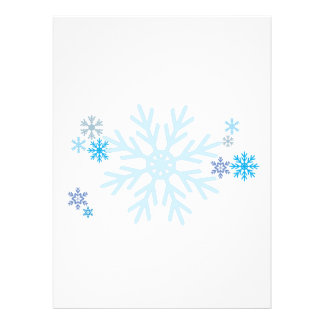 White Blue Snowflakes Christmas Invitation Stamps