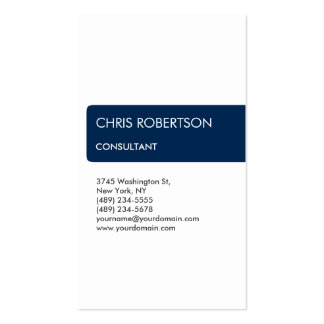 White Blue Striped Attractive Charm Business Card