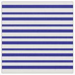 [ Thumbnail: White & Blue Stripes Fabric ]