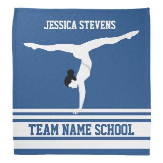 White & Blue Stripes Gymnastics Team Customized Bandana