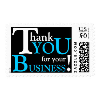 """White & Blue """"Thank you for your Business"""" Postage"""