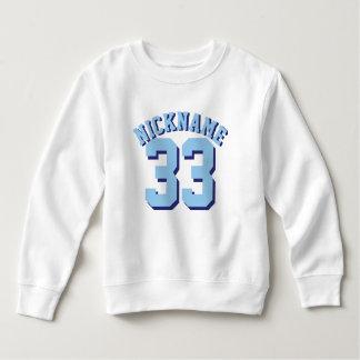 White & Blue Toddler   Sports Jersey Design T-shirt