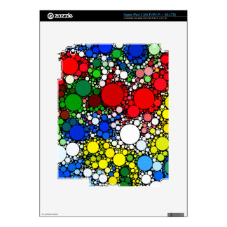 White & Blue Yellow Red Polka Dots Skin For iPad 3
