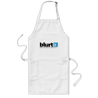 White Blurtit Long Apron