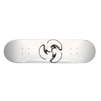 White board- Black swirlie design! Skateboard Deck