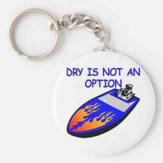 White Boat Dry Not Option Basic Round Button Keychain