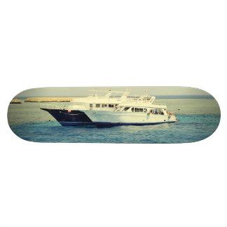 White boat skateboard decks