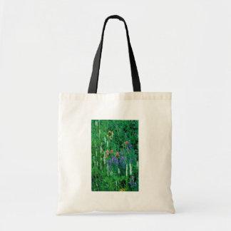 White bog orchid canvas bags