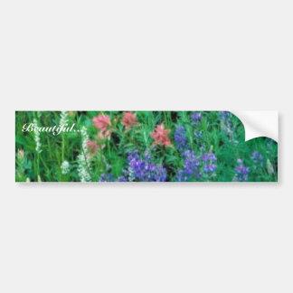 White bog orchid bumper stickers