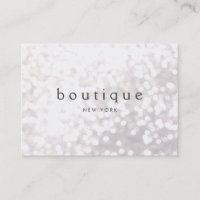 White Bokeh Glitter Modern Event Planner Business Card