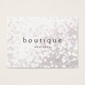 White Bokeh Glitter Modern Event Planner Business Card