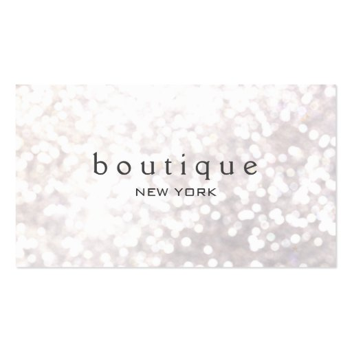 White Bokeh Glitter Modern Fashion & Beauty Double-sided Standard Business Cards (pack Of 100)
