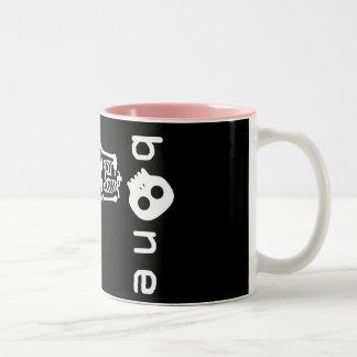 white bone Two-Tone coffee mug