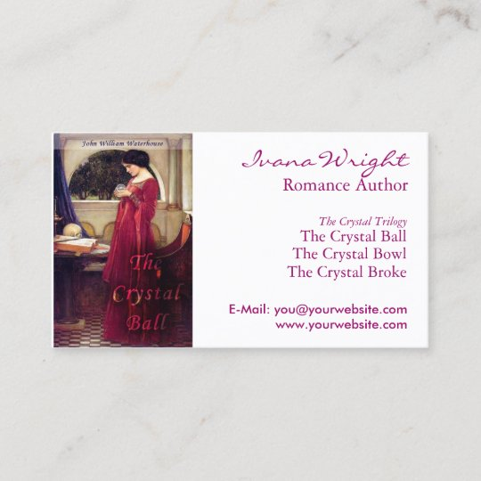 white book cover author business card - Author Business Cards