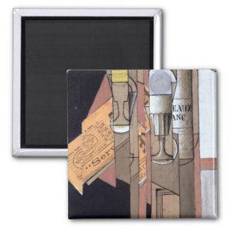 White Bordeaux, 1913 (gouache & pencil on paper) 2 Inch Square Magnet