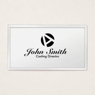 White Border Casting Director Business Card