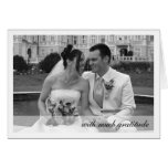 White border modern band photo thank you note stationery note card