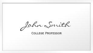 Professor university school teacher education business cards white border professor business card colourmoves