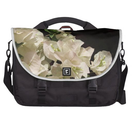 White Bougainvillea Flowers Laptop Bag