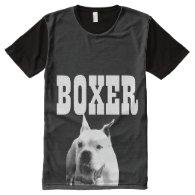 White Boxer all over print shirt All-Over Print T-shirt