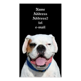 White boxer business cards