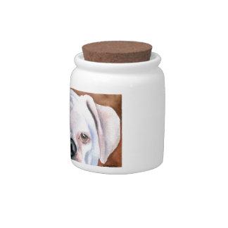 White Boxer Candy Dish