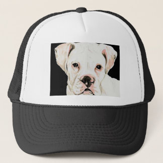 """White Boxer"" Dog Art Hat"