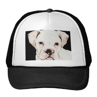 """White Boxer"" Dog Art Hat"