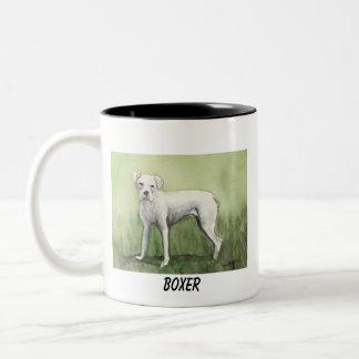 """White Boxer"" Dog Art Mug"