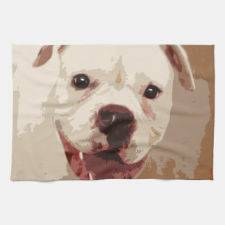 white Boxer Dog Towels