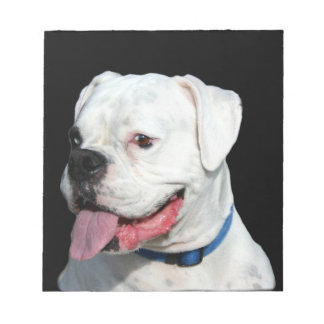 White Boxer dog Notepad