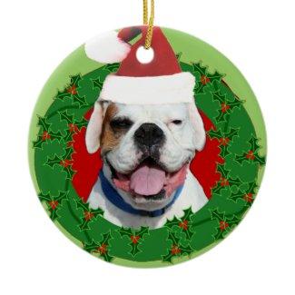 White boxer dog ornament ornament