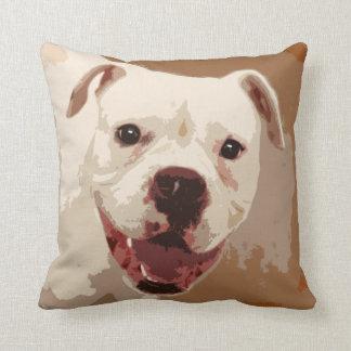 white Boxer Dog Pillow