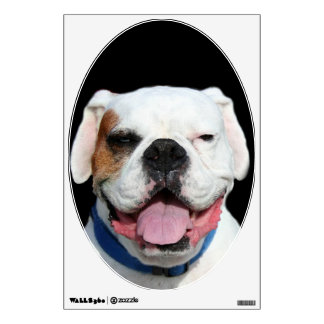 White Boxer Dog Wall Skins