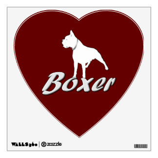 White Boxer Dog Room Graphic