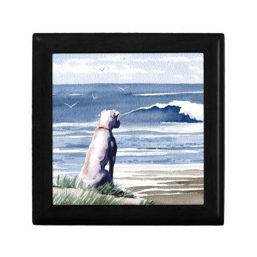 Beach Themed White Boxer Gift Box