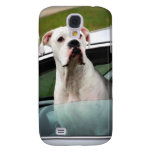 White Boxer in a Car Samsung Galaxy S4 Cover