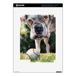 White Boxer iPad 3 Skins