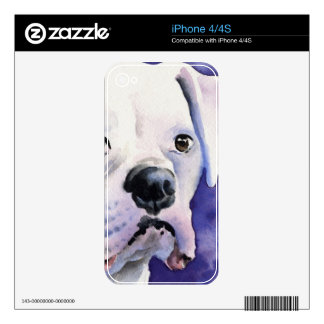 White Boxer iPhone 4 Decal