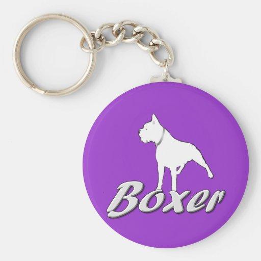 White boxer keychain