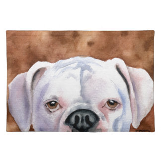 White Boxer Placemat